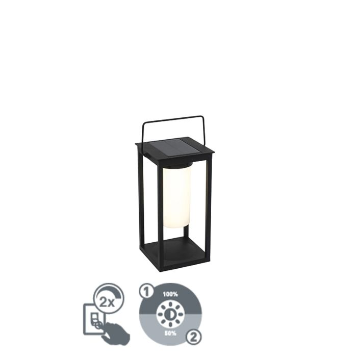 Modern-outdoor-lamp-black-incl.-LED-and-dimmer-solar---Denlu