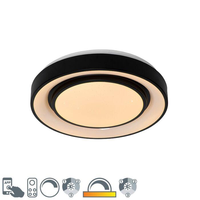 Smart-modern-ceiling-lamp-black-38-cm-incl.-LED-and-RGB---Jochie