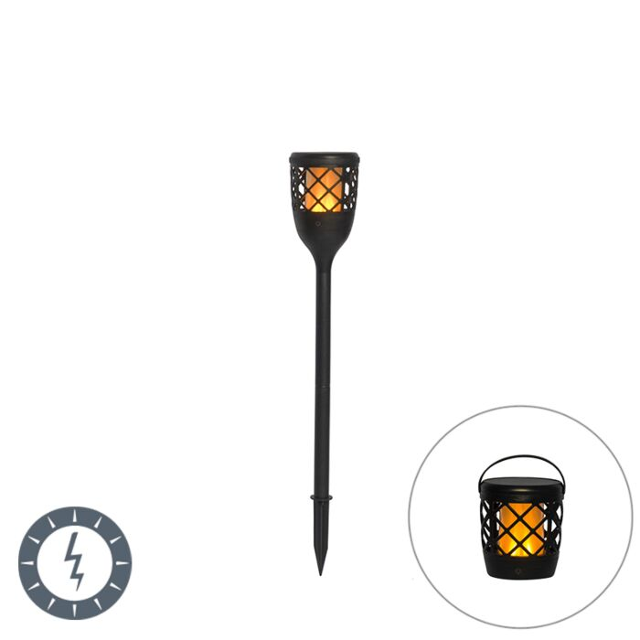 Spike-spot-black-with-flame-effect-incl.-LED-2W---Toci