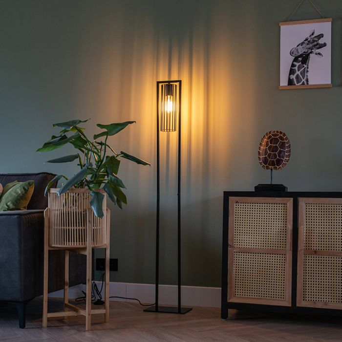 Modern-floor-lamp-black---Balenco-Wazo