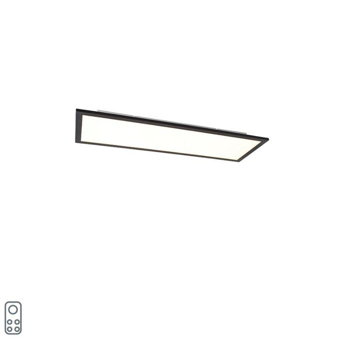 LED-paneel-zwart-incl.-LED-dimbaar-met-afstandbediening-80-cm---Liv