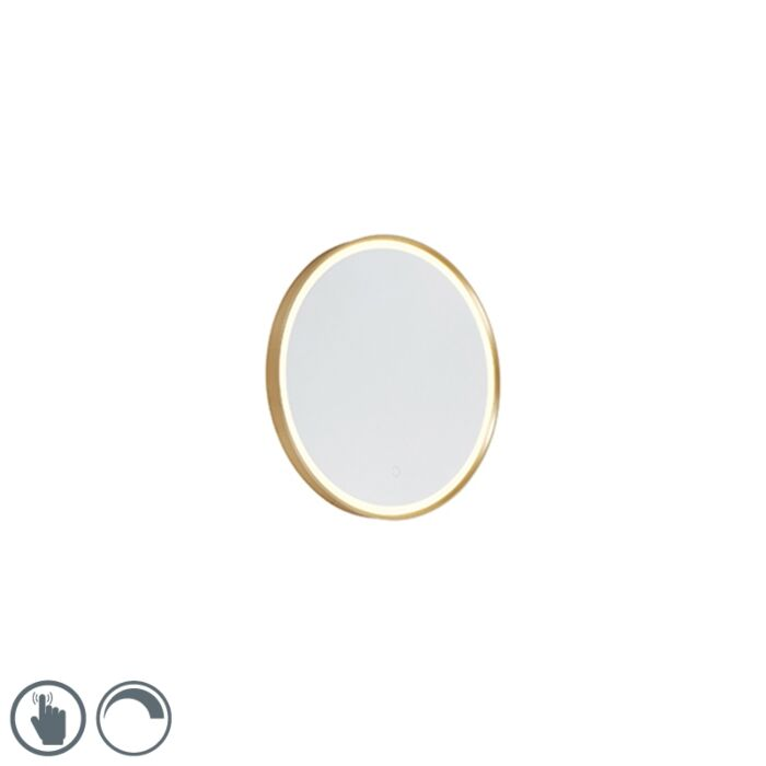 Round-bathroom-mirror-gold-incl.-LED-with-touch-dimmer---Miral