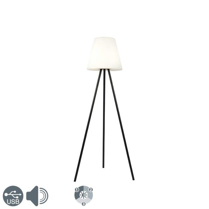 Modern-outdoor-floor-lamp-black-IP44-incl.-LED-on-solar---Virginia