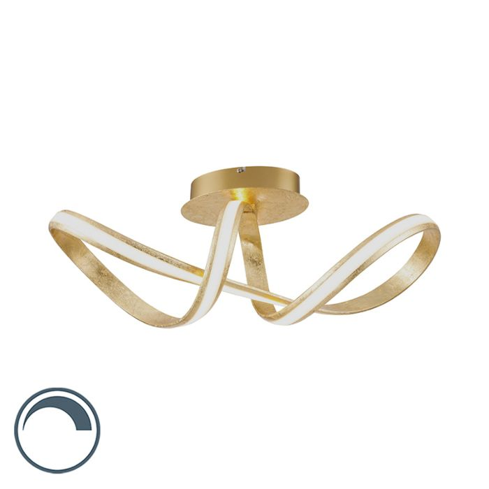 Design-ceiling-lamp-gold-incl.-LED---Belinda