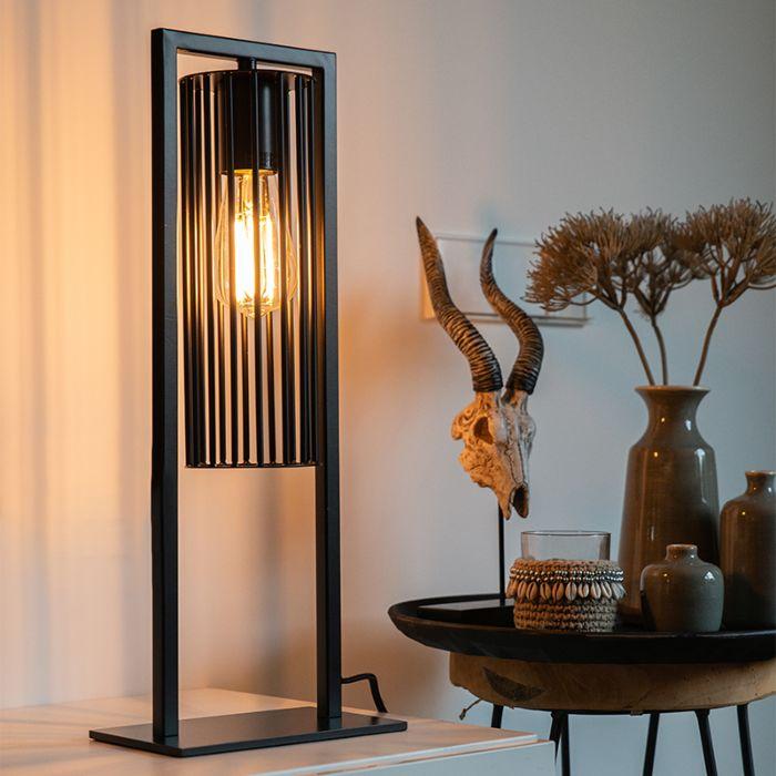 Modern-table-lamp-black---Balenco-Wazo