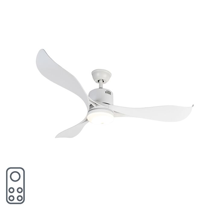 Ceiling-fan-white-incl.-LED-and-remote-control---Kolm