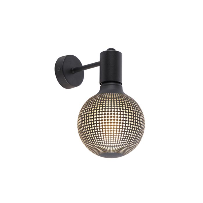 Industrial-wall-lamp-black-incl.-G125-DECO-100lm---Facil-1
