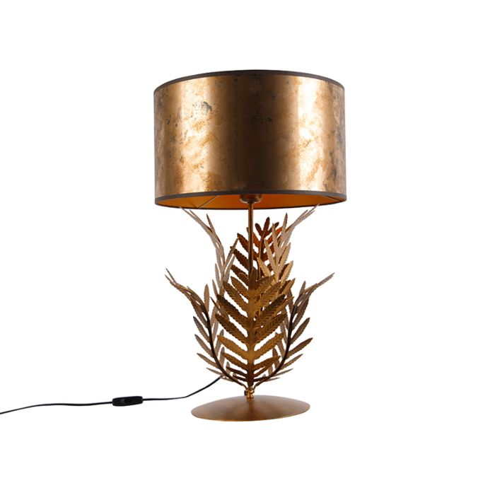 Vintage-table-lamp-gold-with-bronze-shade---Botanica