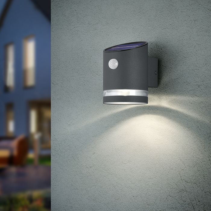 Outdoor Wall Lamp Anthracite With, Modern Outdoor Wall Lights Anthracite Grey