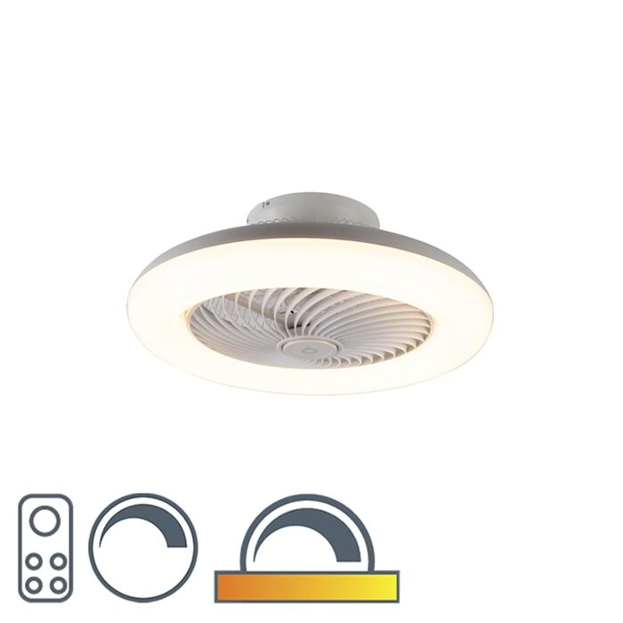 Design-ceiling-fan-white-incl.-LED-dimmable---Clima