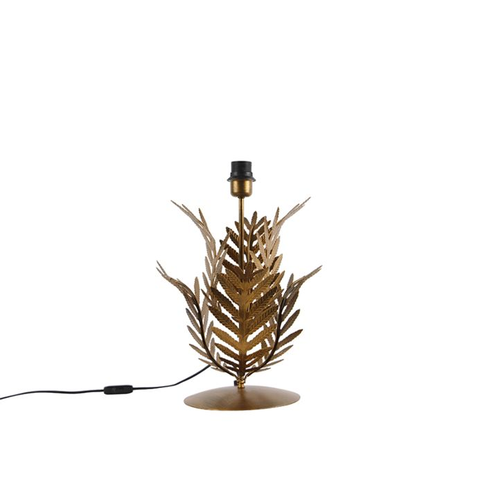 Vintage-gold-table-lamp-without-shade---Botanica