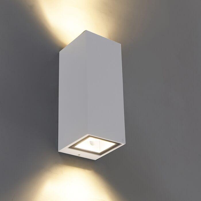 Modern-wall-lamp-white-GU10-AR70-IP54---Baleno-II