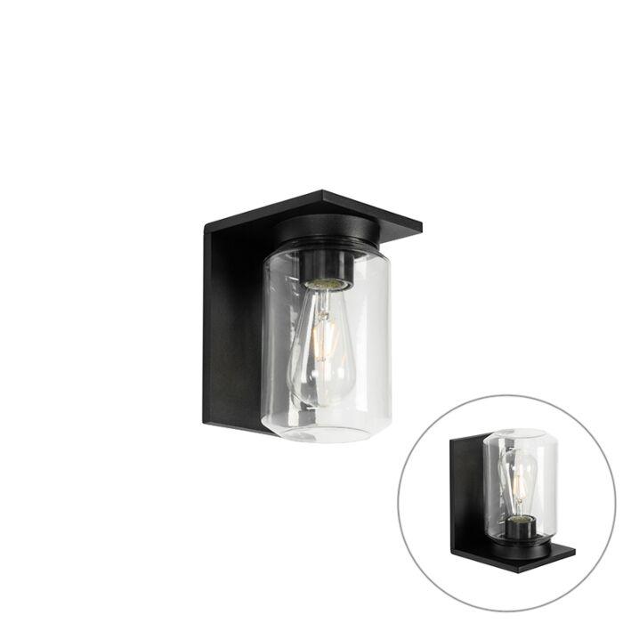 Modern-wall-lamp-black-IP54---Marshall