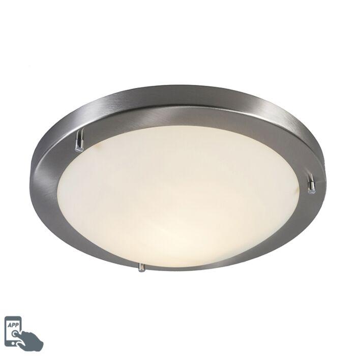 Smart-ceiling-lamp-steel-31-cm-incl.-WiFi-A60-IP44---Yuma
