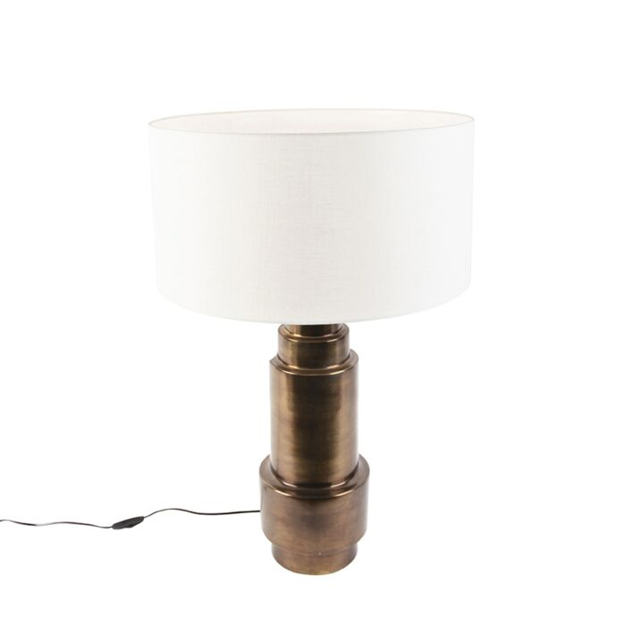 Art-deco-table-lamp-with-shade-white-50-cm---Bruut