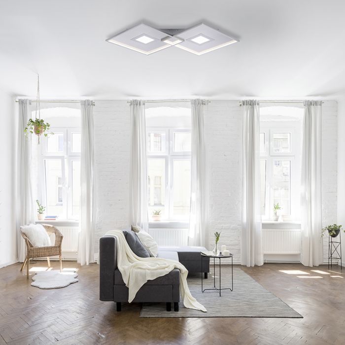 Ceiling-lamp-steel-incl.-LED-and-remote-control---Odile