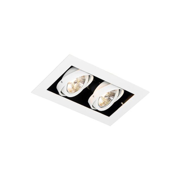 Modern-recessed-spot-white-2-light-adjustable---Oneon-70
