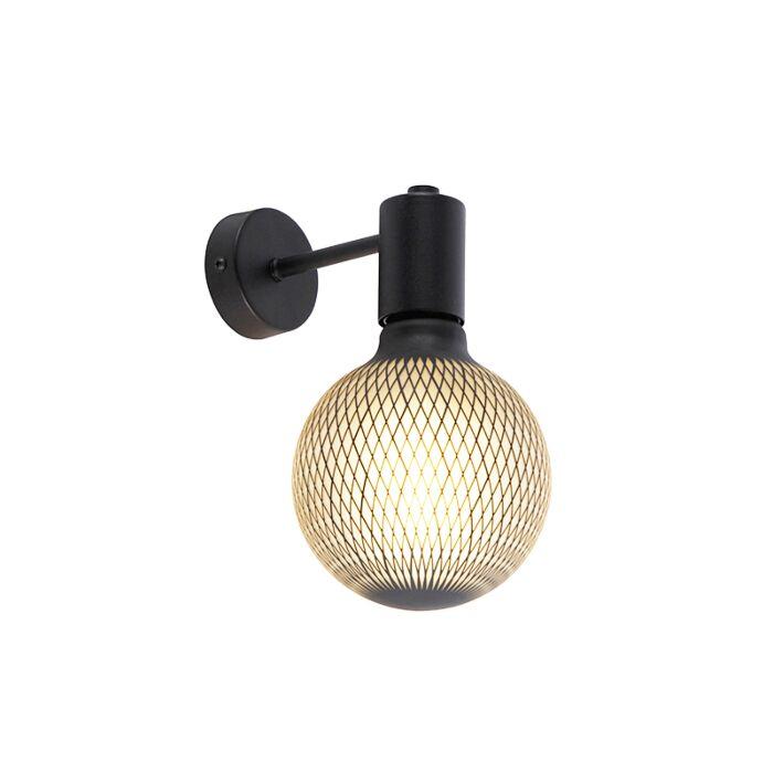 Industrial-wall-lamp-black-incl.-G125-DECO-180lm---Facil-1