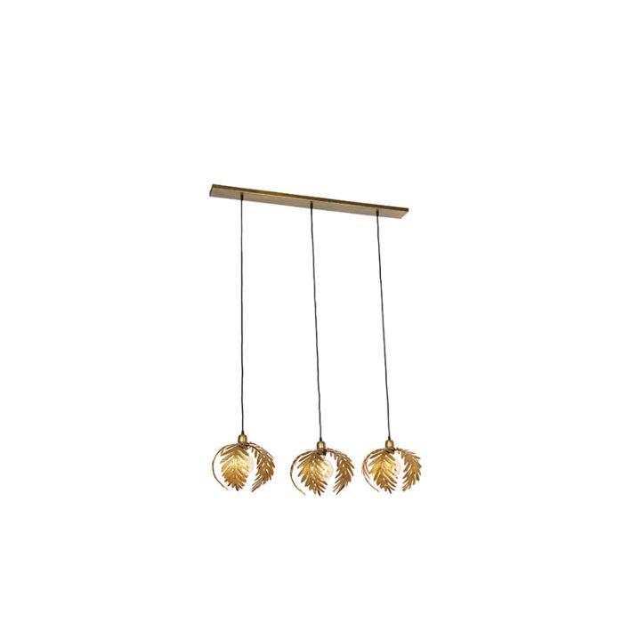 Vintage-hanging-lamp-brass-3-light---Botanica