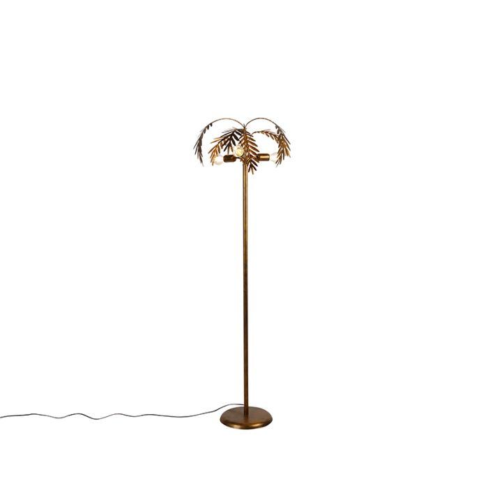 Vintage-floor-lamp-gold-3-light---Botanica