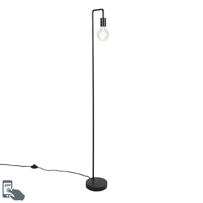 Smart-floor-lamp-black-incl.-WiFi-G125---Facil