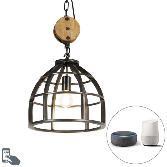 Smart-hanging-lamp-black-34.5-cm-incl.-WiFi-A60---Arthur