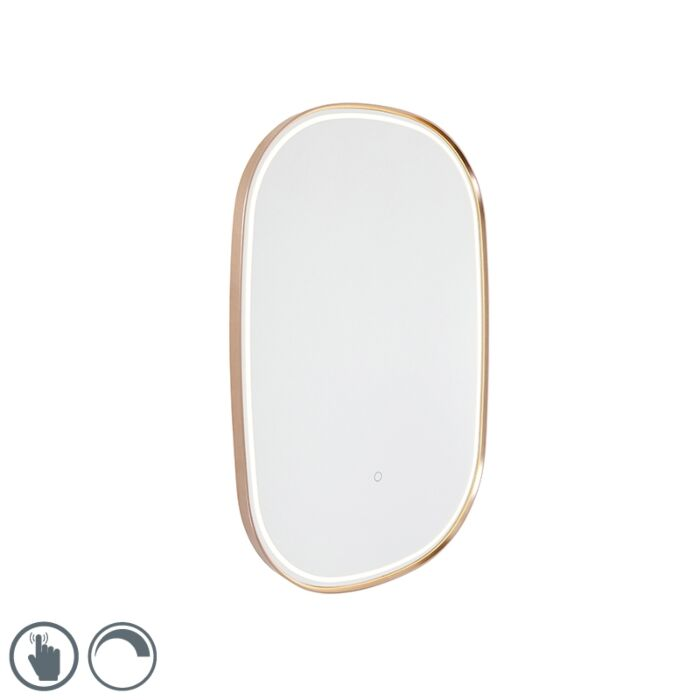 Bathroom-mirror-copper-incl.-LED-with-touch-dimmer-oval---Miral