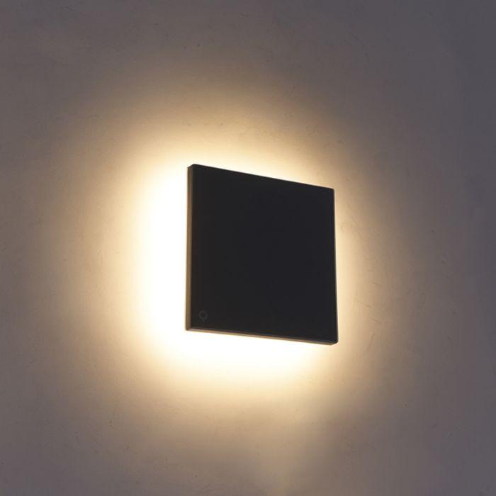 Design-wall-lamp-grjis-15-cm-incl.-LED-IP54---Skyf