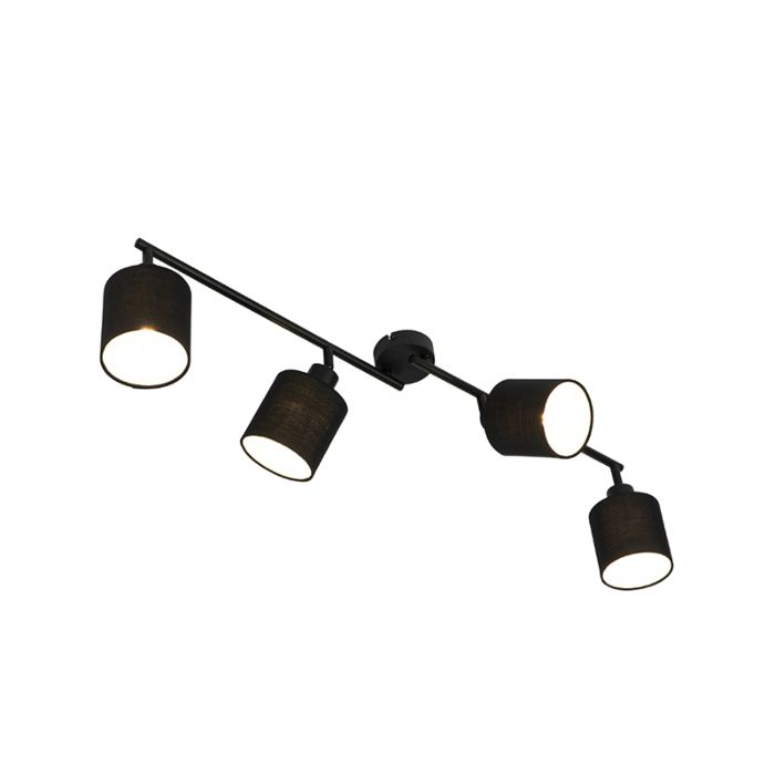 Modern-ceiling-lamp-black-89.5-cm-4-light-adjustable---Hetta