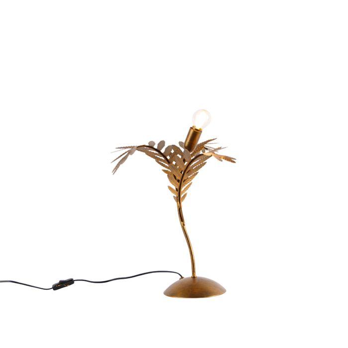 Vintage-table-lamp-gold-40-cm---Botanica