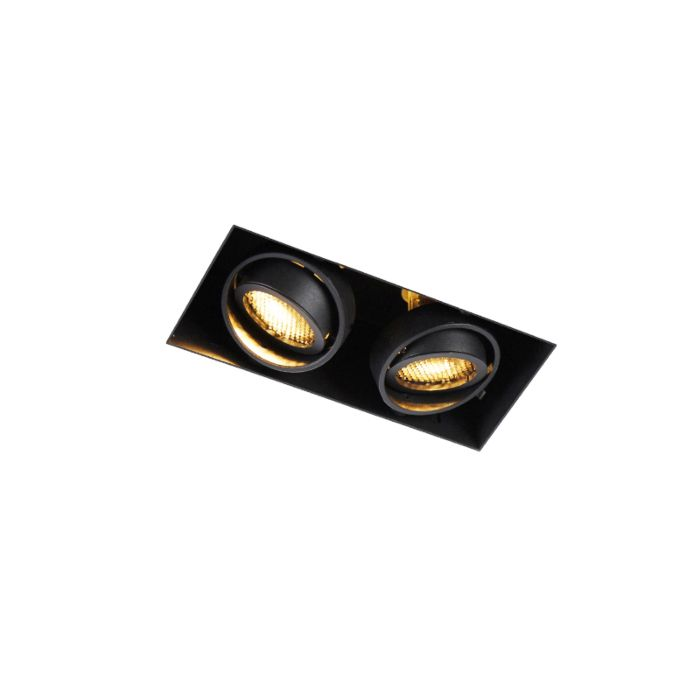 Recessed-spot-black-2-light-rotatable-and-tiltable-Trimless---Oneon-Honey