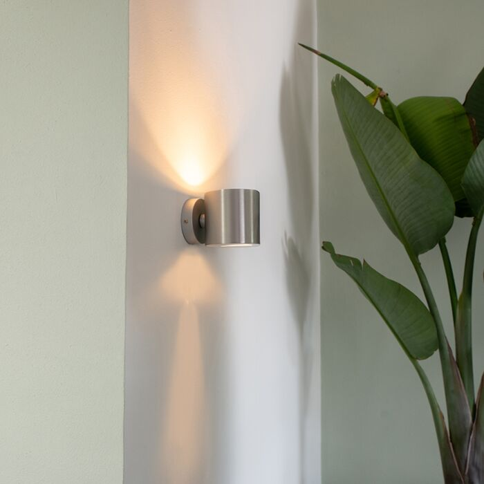 Modern-wall-lamp-aluminum-round---Effect