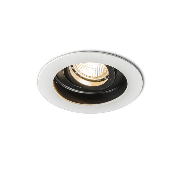 Modern-Recessed-Spotlight-White-with-Steel---Rondoo
