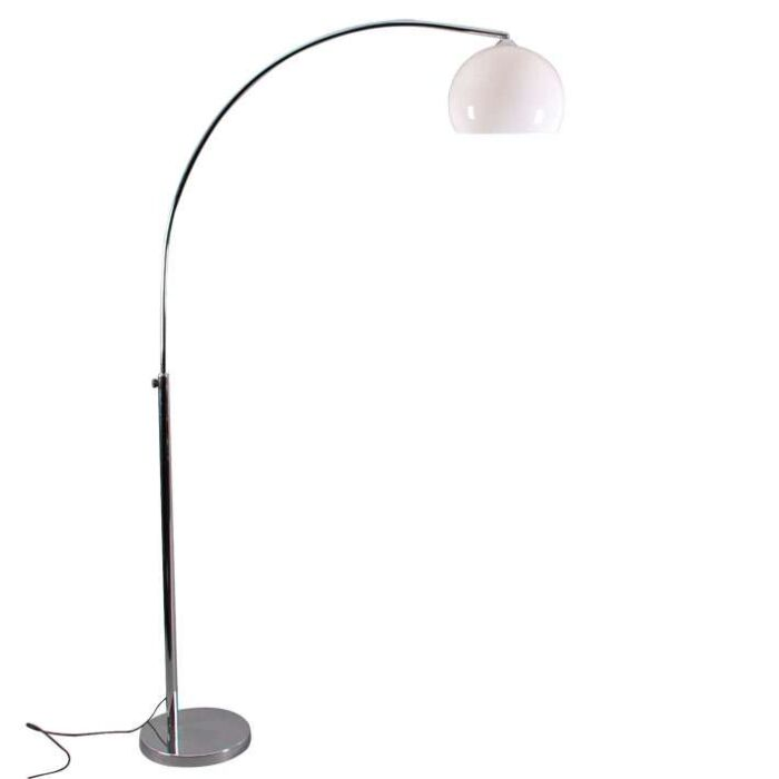 Small-Arch-Lamp-Chrome-with-White-Shade