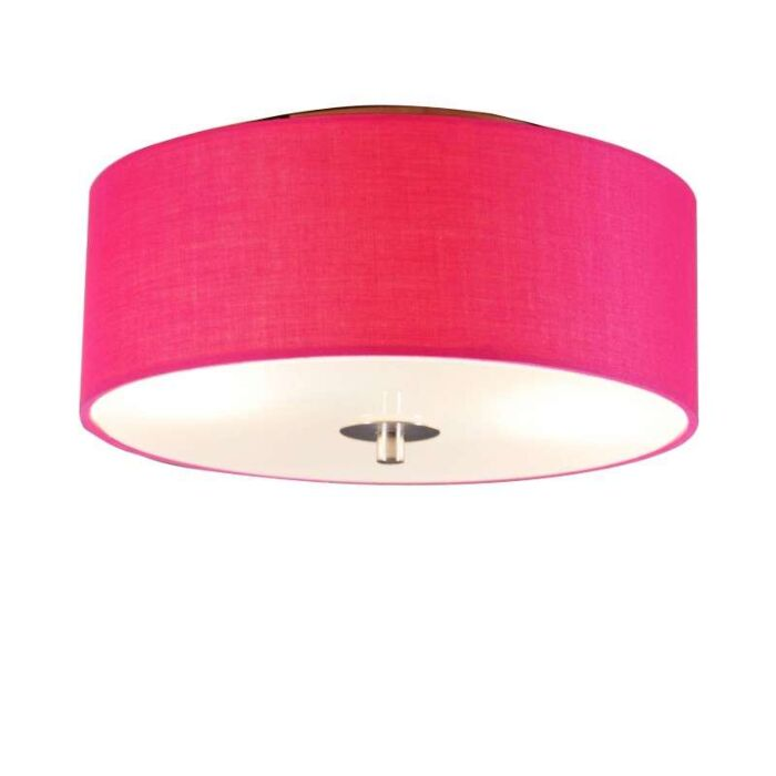 Ceiling-lamp-Drum-30-round-pink