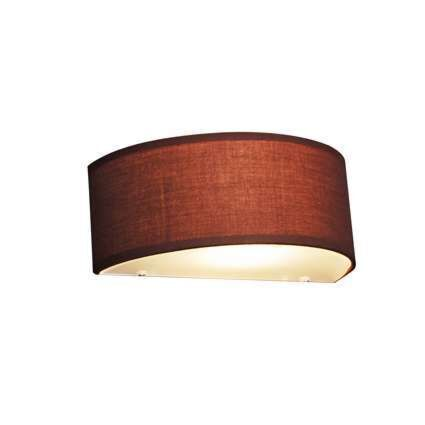 Country-Half-Round-Wall-Lamp-Brown---Drum