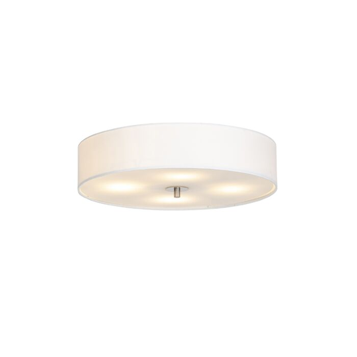 Country-ceiling-lamp-white-50-cm---Drum