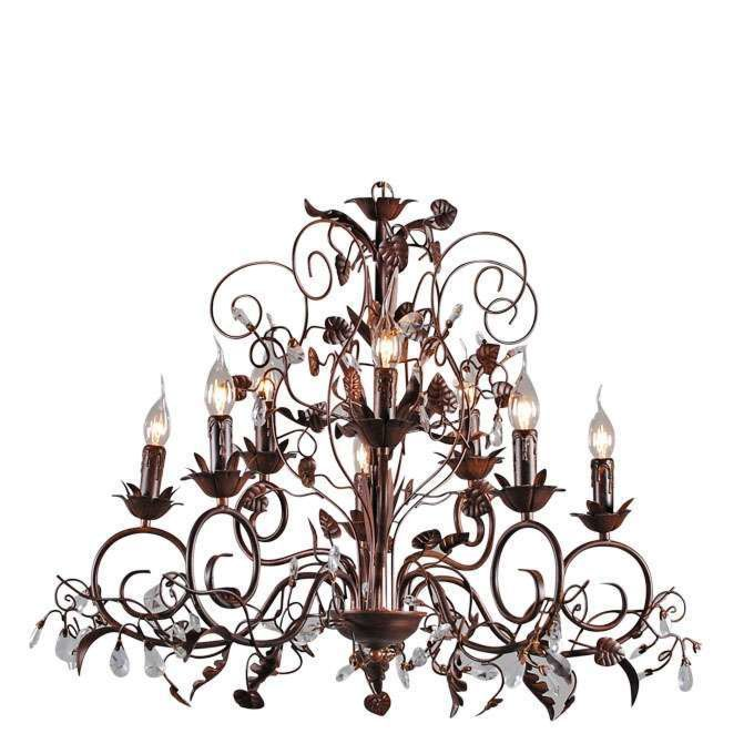 Chandelier-Romance-5lights-antique-brown