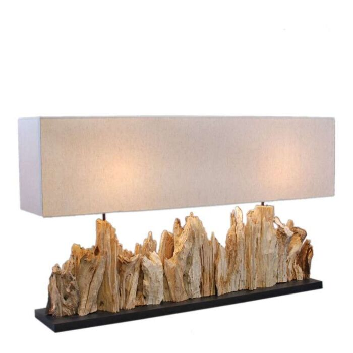 Table-lamp-Thak-Extra-Grande-(115cm!!)---linen-shade
