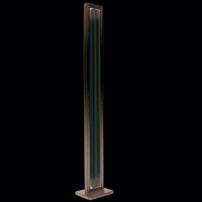 Floor-lamp-Tube-straight-silver-2-x-35W