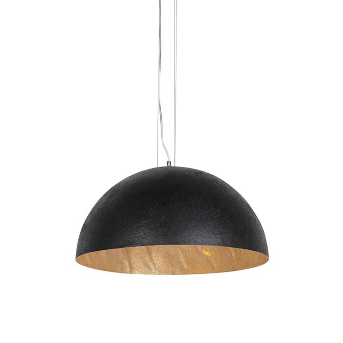Industrial-hanging-lamp-black-with-gold-50-cm---Magna