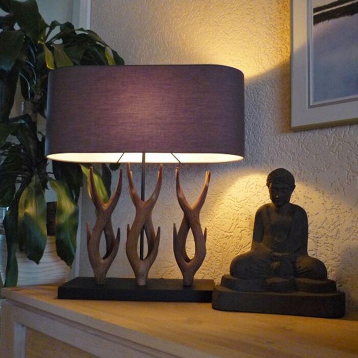 Table-Lamp-Yindee-Recta---Brown-Shade