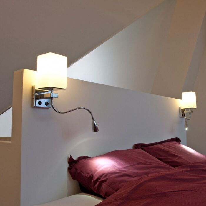 Wall-Lamp-Brescia-Chrome-with-Off-White-Glass-Shade