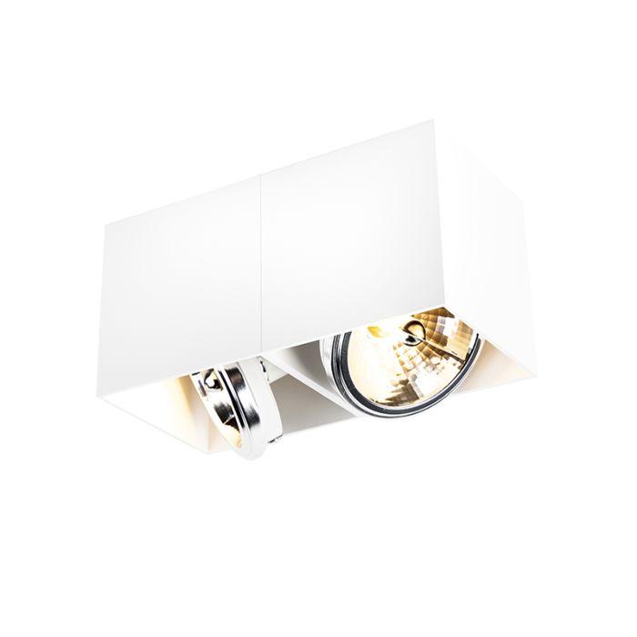 Design-spot-rectangular-2-light-white---Box