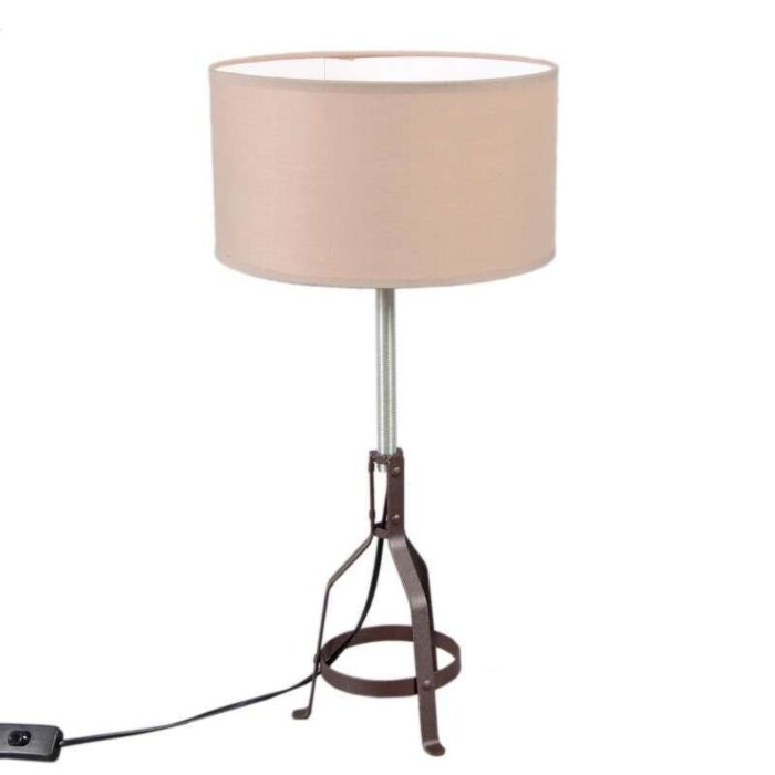 Table-Lamp-Metallo-Brown-with-Taupe-Shade