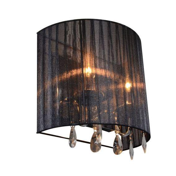 Classic-wall-lamp-chrome-with-black-shade---Ann-Kathrin-2