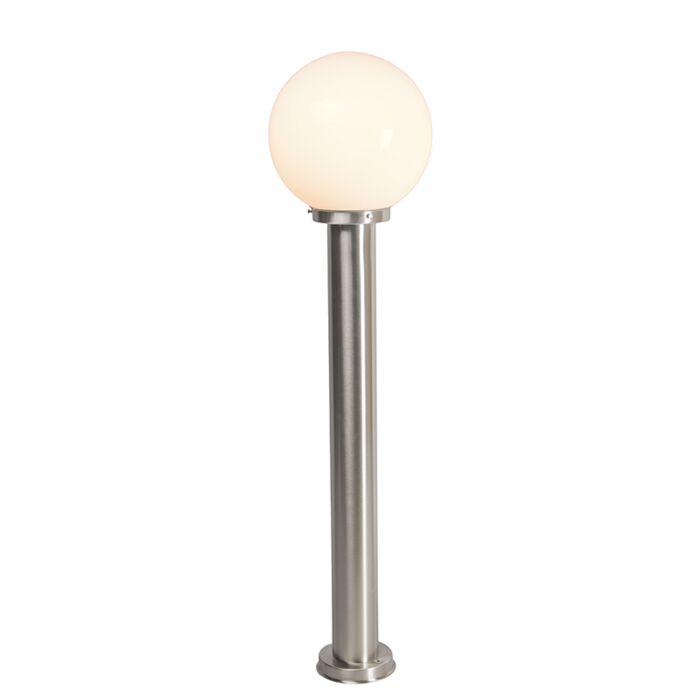 Modern-outdoor-lamp-pole-steel-stainless-steel-100-cm---Sfera