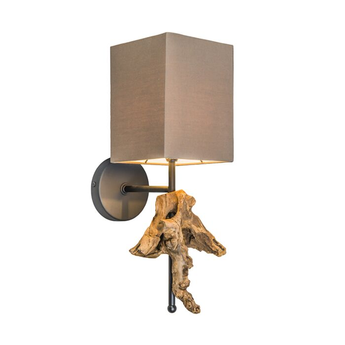 Wall-Lamp-Suchin-Natural-with-Brown-Shade