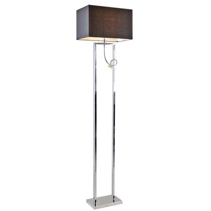 Floor-Lamp-Brescia-Chrome-with-Black-Shade