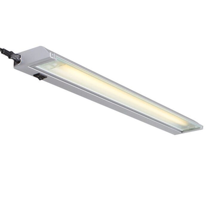 Fluorescent-Fitting-13W-Silver-Luxline